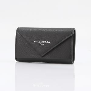 ★BALENCIAGA バレンシアガ PAPER6連キーケース 499204DLQ0N/1000 ブラック