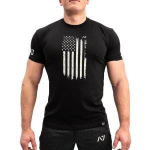 Bar Grip パトリオット バーグリップTシャツ S・M・L・XL・2XL・3XLサイズ PATRIOT B&W A7 スクワット ベンチプレス パワーリフティング練習用 筋トレ 滑らない fitnessclub-y