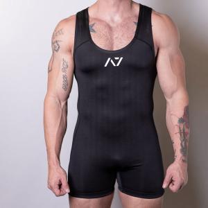 IPF認定 シングレット(S・L・XLサイズ)BLACK SINGLET A7 パワーリフティング大会用 fitnessclub-y