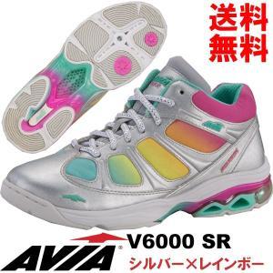 [AVIA]アビア V6000 SR〔シルバー×レインボー〕(22.5〜26.0cm/レディース/メンズ)【17SS03】【フィットネスシューズ】|fitnessclub-y