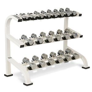 BULL ブル クロームダンベルラック 1kg〜10kg 代引き不可 返品・交換不可 BULL 収納器具 ボディメイク フィットネス ホームジム フィジカル 上半身|fitnessclub-y