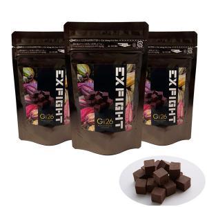 GI26 LDH EXFIGHT(ダーク40g)×3パック 100%プレミアムベルギーチョコレート チョコサプリ  低GIチョコ 高カカオポリフェノール 砂糖不使用|fitnessclub-y