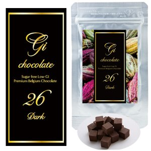 GI26(ダーク5個) 100%プレミアムベルギーチョコレート・チョコサプリ  低GIチョコ 高カカオポリフェノ ール 砂糖不使用|fitnessclub-y