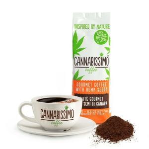 カンナビッシモ(250g)CANNABISSIMO 粉コーヒー FITNESS COFFEE ヘルシーコーヒー ヘンプシード 麻の実 スーパーフード ワークアウトドリンク 添加物不使用|fitnessclub-y