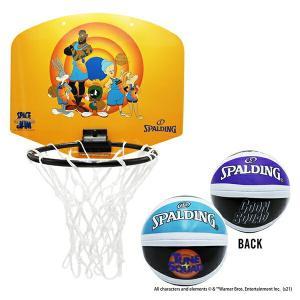 スペース・ジャム テューン・スクワッドイエロー マイクロミニ SPALDING スポルディング バスケ 子供向け 家庭用バスケットゴール バスケットボール リング fitnessclub-y