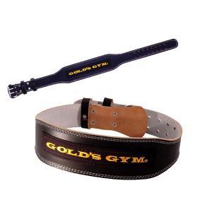 ゴールドジム ブラックレザーベルト トレーニングベルト GOLD'S GYM|fitnessclub-y