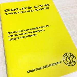 ゴールドジム トレーニングノート  [GOLD'S GYM_G]|fitnessclub-y