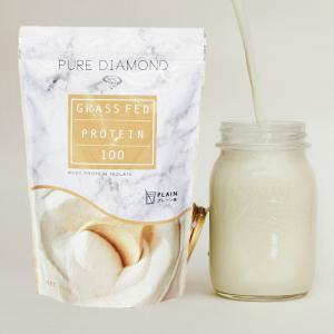 PURE DIAMOND ピュアダイアモンド グラスフェッド プロテイン プレーン味 750g ホエ...