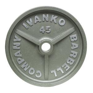 【Φ50mmバーベルプレート】IVANKO(イヴァンコ)OMK オリンピックペイントプ レート 20kg(リーズナブルな50mmプレート)