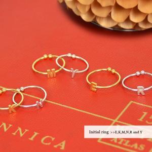 【SALE】イニシャルリング 指輪 ファランジリング ピンキーリング ネイルリング アルファベットメール便・ネコポス可 fitpromotion