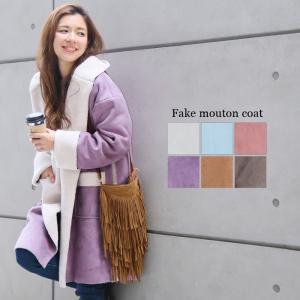 【SALE】【メーカー】フェイクムートンコート レディース ファッション 秋冬 コート アウター フーディガン ムートン ボア|fitpromotion