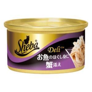 猫缶 シーバ デリ お魚のほぐし身に蟹添え 85g 猫用レトルト five-1