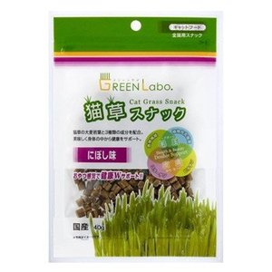 GREEN Labo(グリーンラボ) 猫草スナック にぼし味 40g|five-1