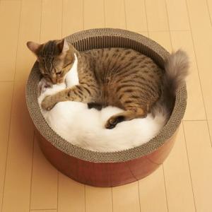 エイムクリエイツ ミュー(mju:) ガリガリサークル スクラッチャー ビッグ またたび付 猫用[猫用爪とぎ]|five-1