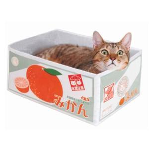 猫用爪とぎ エイムクリエイツ MJU(ミュー) 愛猫専用つめとぎ付き段ボール にゃんボール(みかん箱)|five-1