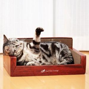 エイムクリエイツ ミュー(mju:) ガリガリラウンジ(またたび付き) 猫用[猫用爪とぎ]|five-1