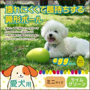 とっても頑丈で壊れにくく経済的なおもちゃ「エッグ ミニ」 ライムグリーン 犬用おもちゃ|five-1