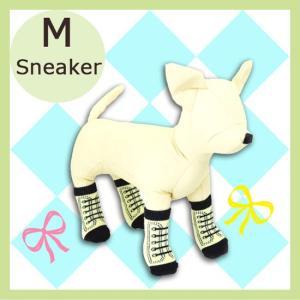 アライブ ペットソックス4足 スニーカー  Mサイズ 犬用 靴下 five-1