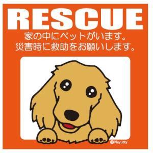 Leaps RESCUE(レスキュー) ペットステッカー ダックス CR  メール便可|five-1