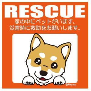 Leaps RESCUE(レスキュー) ペットステッカー 柴犬 YL  メール便可|five-1