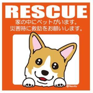 Leaps RESCUE(レスキュー) ペットステッカー Wコーギー YL  メール便可|five-1