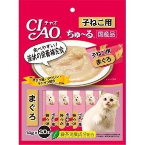 いなば CIAO チャオ ちゅ〜る 子猫用まぐろ味 14g×20本 猫用おやつ 2個までメール便OK...