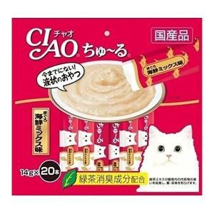 いなば CIAO チャオ ちゅ〜る まぐろ 海鮮ミックス味 14g×20本 猫用おやつ 2個までメー...
