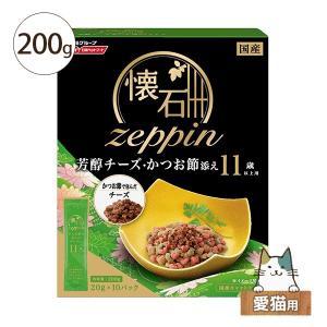 猫用ドライフード 日清ペットフード 懐石zeppin11歳以上用かつお節 200g 愛猫用 five-1