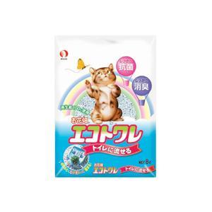 ペットライン お花畑 エコトワレ トイレに流せる 8リットル 猫砂|five-1