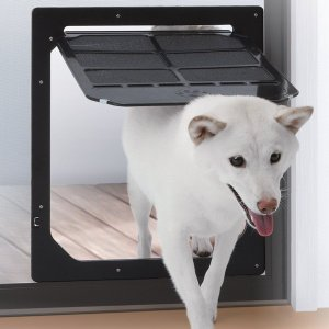 ダイオ化成 網戸専用 犬猫出入り口 L 中型犬用 ペットドア|five-1