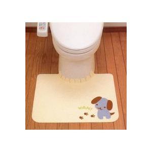 おくだけ吸着 トイレ用マット においとりますトイレマット 60×47cm five-1