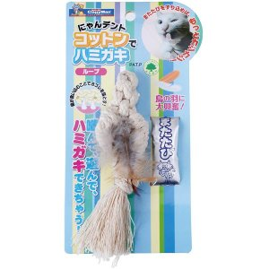 ドギーマン にゃんデント コットンでハミガキ ループ 猫用おもちゃ|five-1