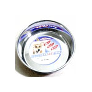 ステンレスを使用した犬用皿型食器。サビに強い良質ステンレスを使用。  サイズ:157×285×48m...