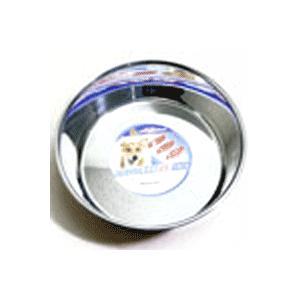 ステンレスを使用した犬用皿型食器。サビに強い良質ステンレスを使用。  サイズ:200×450×64m...
