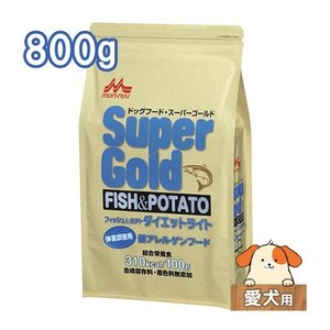 ワンラック スーパーゴールド フィッシュ&ポテト ドライドッグフード ダイエットライト 800g|five-1