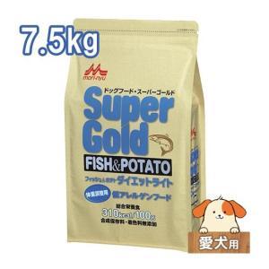 ワンラック スーパーゴールド フィッシュ&ポテト ドライドッグフード ダイエットライト 7.5kg|five-1