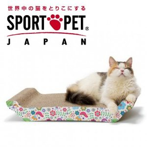 SPORTPET(スポーツペット) バリバリベッド L 花柄 猫用爪とぎ|five-1