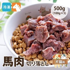 愛犬用生肉 馬肉切り落とし 500g(100g×5) 犬猫用 冷凍便 常温品同梱不可[ドッグフード 生肉]|five-1