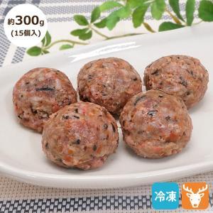 愛犬用生肉 北海道産 エゾ鹿肉パーフェクトミートボール 約200g(10個入り) 冷凍便 常温品同梱不可|five-1