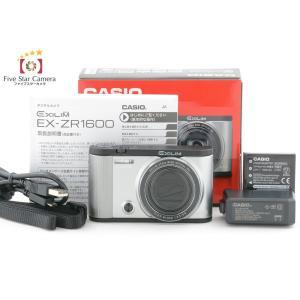 【中古】CASIO カシオ HIGH SPEED EXILIM EX-ZR1600 シルバー|five-star-camera