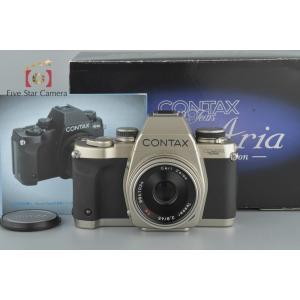 【中古】CONTAX コンタックス Aria 70周年記念モデル + Carl Zeiss Tessar 45mm f/2.8 T* 100周年記念モデル|five-star-camera