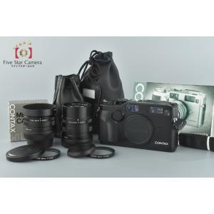 【中古】CONTAX コンタックス G2 ブラック + Carl Zeiss Biogon 28mm f/2.8 T* + Carl Zeiss Sonnar 90mm f/2.8 T*|five-star-camera