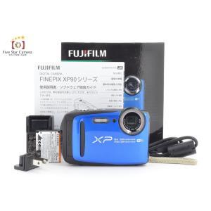 【中古】FUJIFILM 富士フイルム  FINEPIX XP90 ブルー コンパクトデジタルカメラ|five-star-camera