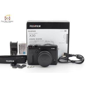 【中古】FUJIFILM 富士フイルム X30 ブラック コンパクトデジタルカメラ A|five-star-camera