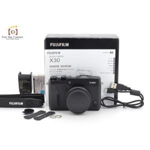 【中古】FUJIFILM 富士フイルム X30 ブラック コンパクトデジタルカメラ B|five-star-camera