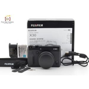 【中古】FUJIFILM 富士フイルム X30 ブラック コンパクトデジタルカメラ C|five-star-camera