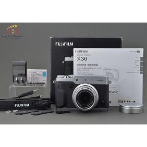 【中古】FUJIFILM 富士フイルム X30 シルバー コンパクトデジタルカメラ A|five-star-camera
