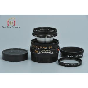 【中古】Leica ライカ ELMAR-M 50mm f/2.8 E39 ブラック 沈胴式 1182...