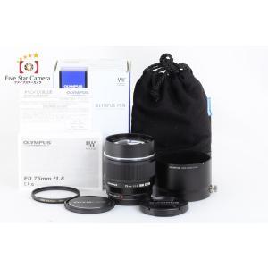 【中古】 OLYMPUS オリンパス M.ZUIKO DIGITAL ED 75mm f/1.8 ブラック