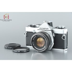 【中古】OLYMPUS オリンパス OM-1 シルバー + F.ZUIKO AUTO-S 50mm f/1.8|five-star-camera